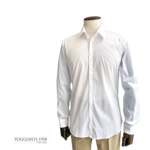 カジュアルシャツ ブランド POGGIANTI1985 ポジャンティ1985 シャツ プリントシャツ 柄シャツ メンズ カジュアル ドット 水玉|solfiglio