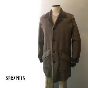 コート メンズ カジュアル ムートンコート ブランド セラファン SERAPHIN 高級 スウェード 本革|solfiglio