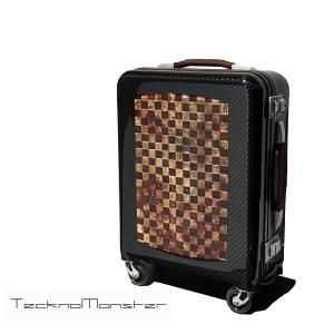 キャリーバッグ トローリー スーツケース ブランド メンズ レディース カーボンファイバー Teckno Monster テクノモンスター イタリア製