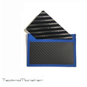 テックサブラージュカード  カードケース 定期入れ パスケース  ブランド カーボンファイバー チタン TecknoMonster テクノモンスター イタリア製 ブルー|solfiglio