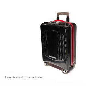 キャリーバッグ キャリーケース トロリー スーツケース 機内持ち込みサイズ ブランド カーボンファイバー Teckno Monster テクノモンスター イタリア製