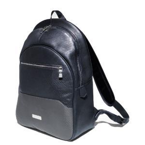 TecknoMonster(テクノモンスター) バッグパック リュック バッグ 書類鞄 ブランド メンズ レディース レザー 本革 カーボンファイバー イタリア製 solfiglio