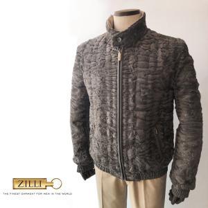 ブルゾン メンズ ジャンバー カジュアル ブランド ZILLI ジリー アストラカン 毛皮|solfiglio
