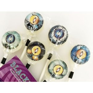6本セット Lollipops Candy オカルトキャンディ 3D CREATURE EYES(ブラックベリー味)箱付き|solidalliance