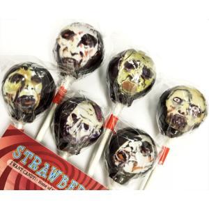 6本セット Lollipops Candy オカルトキャンディ ZOMBIES ゾンビ(ストロベリー味)箱付き|solidalliance