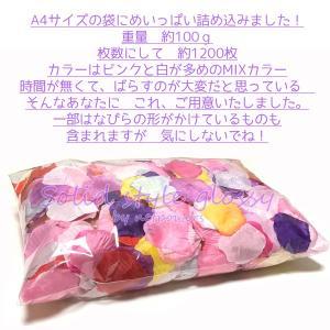 フラワーぺタル MIXカラー 100gパック フラワーシャワー 花びら ブライダル 結婚式 花束|solidstyle-labo