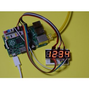 ラズベリーパイ(Raspberry Pi)初心者向け説明書、サポート付 デジタル時計表示キット(時計...