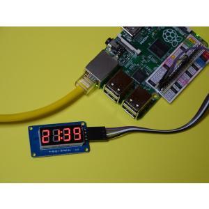 ラズベリーパイ(Raspberry Pi)初心者向け説明書、サポート付 デジタル時計表示キット(TM...