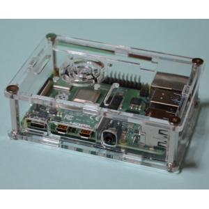 Raspberry Pi 4B用アクリルケース(ネジ締め型。爪引っかけ型より頑丈です。B+/2B/3...