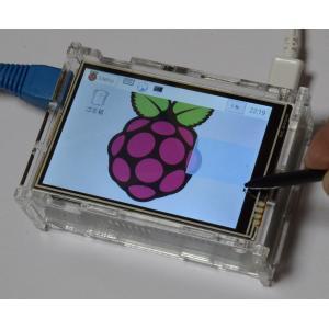 ラズベリーパイ(Raspberry Pi ラズパイ)用タッチパネル液晶モニタ 480X320ドット 3.5inch RPi LCD 初心者向け説明書、ケース、ヒートシンク、サポート付