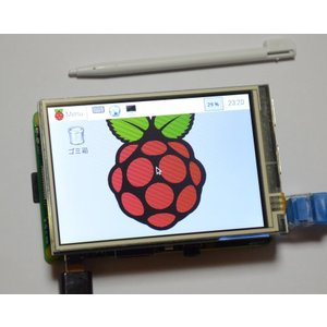ラズベリーパイ(Raspberry Pi ラズパイ)用タッチパネル液晶モニタ 480X320ドット 3.5inch RPi LCD 初心者向けダウンロード版説明書、サポート付 低価格版