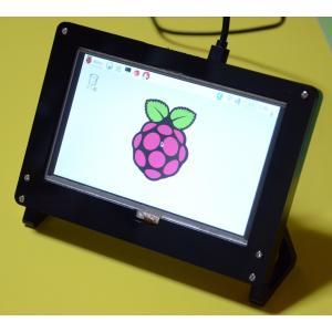 Raspberry Pi(ラズパイ)用液晶モニタ(A+/B+/2B/3B用タッチパネル液晶800X480ドット) 5inch HDMI Display&フレームスタンド 初心者向け説明書サポート付