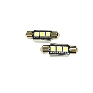 ポルシェ ケイマン(987) カイエン(957 955) ボクスター(987 986) 911(997 993) ホワイト LEDライセンス ナンバー灯セット 37mm対応 キャンセラー内蔵 COBRA製|solltd2