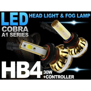 三菱 グランディス / パジェロ / パジェロ イオ フォグランプ 最新型LEDバルブ HB4 3000K 6000K 10000K キャンセラー付 COBRA製|solltd2