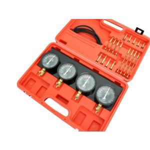 4連 バキュームゲージセット メーター 負圧測定 キャブレター調整 レギュレーター付