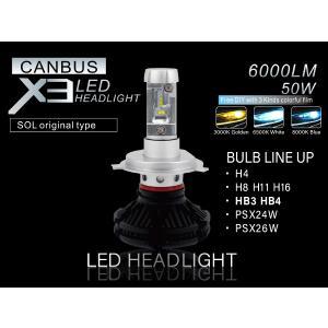 ベンツ W203 W209 R230 フォグランプ用 HB3 HB4 LEDバルブ X3正規品 3000K 6500K 8000K切替可能 警告灯キャンセラー内臓|solltd2