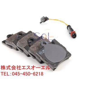 ベンツ W220 リア ブレーキパッド左右 + パッドセンサー1本 セット S320 S430 S500 S600 S55 0044209420 0034201920 2115401717|solltd