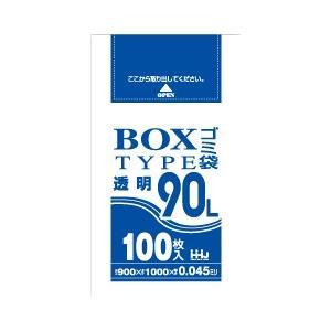@23.1円 300枚 透明 ポリ袋90L ボックスタイプ LLDPE 0.045×900×1000mm 05710-BL93|solouno