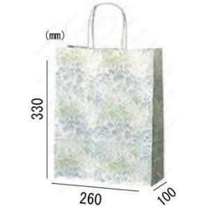 紙袋 手提げ袋 ミント 丸紐 HA-4 200枚 26×10×33cm 業務用まとめ買い solouno
