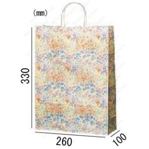 紙袋 手提げ袋 コロン 丸紐 HA-4 200枚 26×10×33cm 業務用まとめ買い solouno