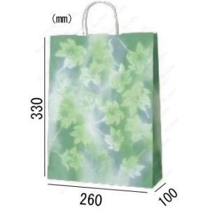 紙袋 手提げ袋 ゆり 丸紐 HA-4 200枚 26×10×33cm 業務用まとめ買い solouno