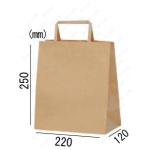 紙袋 手提げ袋 未晒 茶色 無地 平紐 HA-5 400枚 22×12×25cm 業務用まとめ買い solouno