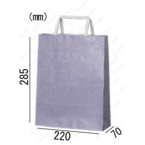 紙袋 手提げ袋 かすみ 平紐 HA-6 400枚 22×7×28.5cm 業務用まとめ買い solouno