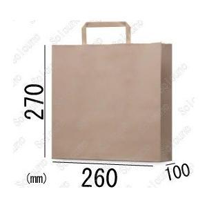 紙袋 手提げ袋 茶色 エコ RCブラウン 平紐 HA-4s 200枚 26×10×27cm 古紙使用率100% 業務用まとめ買い solouno