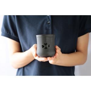 大堀相馬焼 松永窯 SAKURAMUG ペアセット (ピンク&ブラック) 夫婦二重湯呑み|soma-yaki|03