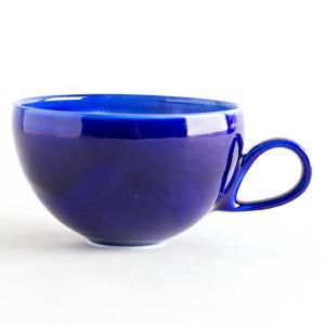 大堀相馬焼 陶吉郎窯 マグカップ 丸(瑠璃釉)|soma-yaki