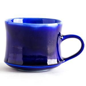 大堀相馬焼 陶吉郎窯 マグカップ(瑠璃釉)|soma-yaki