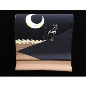 名古屋帯「猫と月」|some-moyou
