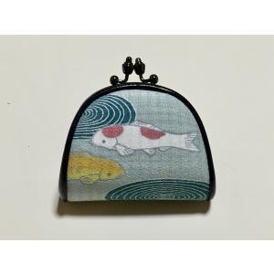 がま口「鯉と渦巻き」|some-moyou