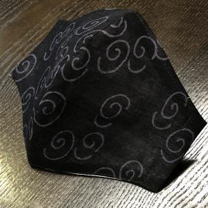 和柄布マスク 「うずまき」 綿麻浴衣地使用|some-tsuka