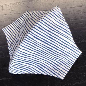 和柄布マスク 「よろけ縞(よろけじま)」 本染江戸手拭使用|some-tsuka