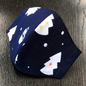 着物屋が作った布マスク 「クリスマスツリー」 本染江戸手ぬぐい使用 おしゃれ 男性用女性用あり 洗える 日本製|some-tsuka
