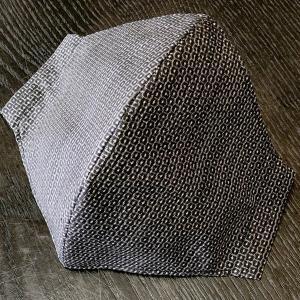 着物屋が作った和柄布マスク「泥染大島紬」表地絹100% おしゃれ 男性用女性用あり 洗える 日本製|some-tsuka