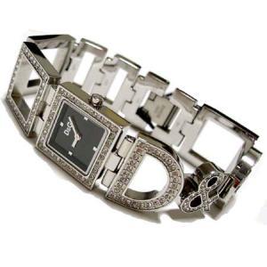 [送料無料] D&G TIME ドルガバ NIGHT&DAY レディースジルコニア付シルバーSSベルト腕時計 3719251532|something