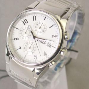 ★即納★[送料無料] D&G TIME ドルガバ SANDPIPERクロノグラフ SSベルト時計|something