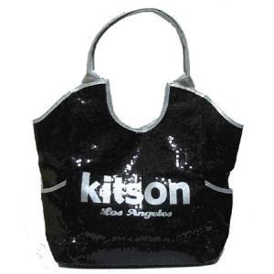 ★即納★KITSON スパンコールトートバッグ Los Angeles Sequin Tote Black/Silver something