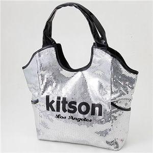 ★即納★KITSON スパンコールトートバッグ Los Angeles Sequin Tote Silver/Black something