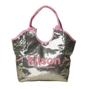 ★即納★KITSON スパンコールトートバッグ Los Angeles Sequin Tote Silver/Pink something