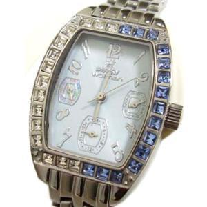 [pinkywolman/ピンキーウォルマン] レディース・トノー型マルチファンクション腕時計 91053-04|something
