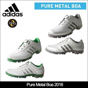 即納 大特価 adidas(アディダス) Pure Metal Boa ピュアメタルボア 2016モデル ゴルフシューズ メンズ 日本正規品|somethingfour