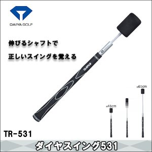 【取寄せ商品】DAIYA(ダイヤ) TR-531 ダイヤスイング531 スイング練習用品 ゴルフ|somethingfour
