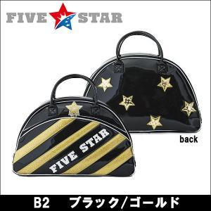 即納 FIVESTAR(ファイブスター) FSBB-001 B2 ブラック/ゴールド ボストンバッグ ゴルフバッグ  オリジナルタオルプレゼント|somethingfour