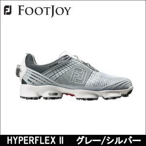 取寄せ商品 FootJoy(フットジョイ) HYPERFLEX II ハイパーフレックス(グレー+シルバー) メンズゴルフシューズ|somethingfour