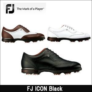 取寄せ商品 FootJoy(フットジョイ) FJ ICON Black アイコンブラック メンズゴルフシューズ|somethingfour