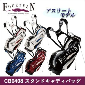 取寄せ商品 FOURTEEN(フォーティーン)CB0408 スタンドキャディバッグ ゴルフバッグ |somethingfour