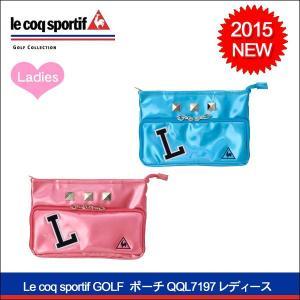 最終値下げ Le coq sportif GOLF(ルコックゴルフ) 2015 ポーチ QQL7197 レディース ゴルフバッグ|somethingfour